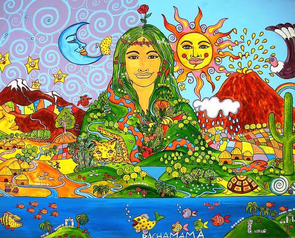 Pachamama Art Print By Arianna Ruffinengo