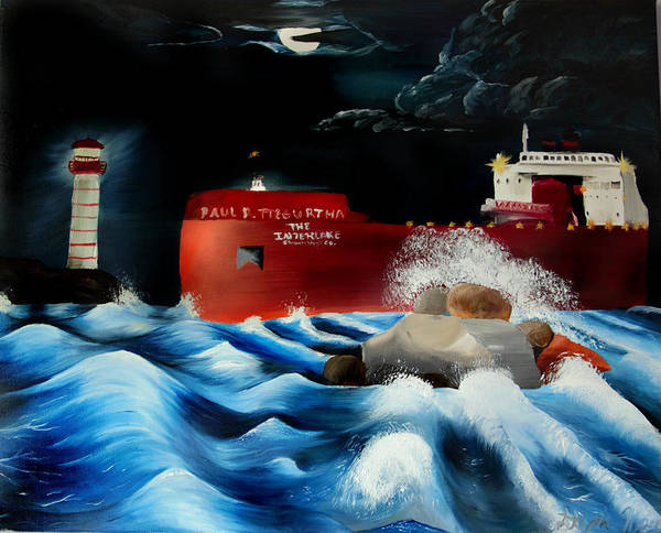 Boat Art Print featuring the painting Paul R Tregurtha by Stephanie Koenig