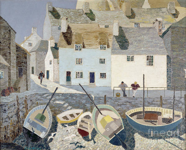 Cornish Print featuring the painting Polperro by Eric Hains