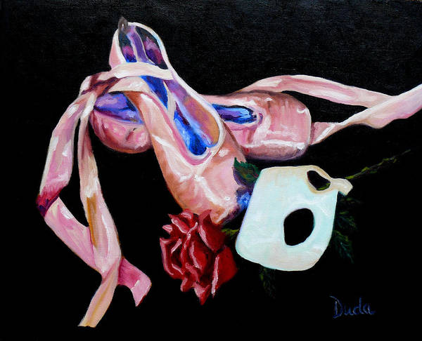 Remnants Of The Dance Print featuring the painting Remnants Of The Dance by Susan Duda