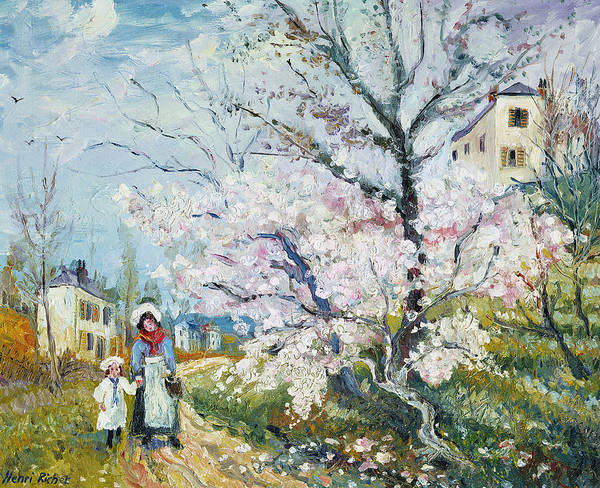 Garden Art Print featuring the painting Spring Blossom by Henri Richet