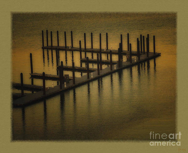 Pier Art Print featuring the photograph The Dock by Jeff Breiman