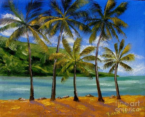 Summer Art Print featuring the painting Tropical Paradize by Inna Montano