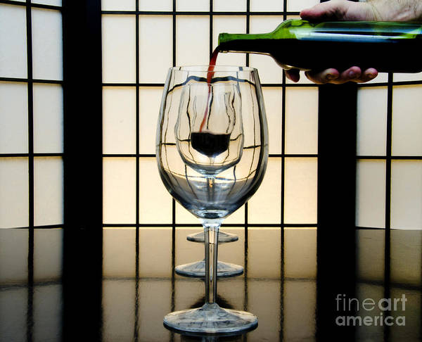 Banquet Art Print featuring the photograph Wine For Three by John Debar