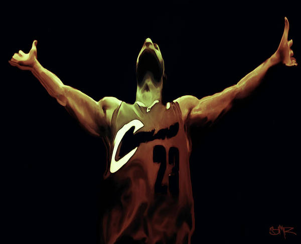 Lebron James Art Print featuring the painting Witness by Brian Reaves