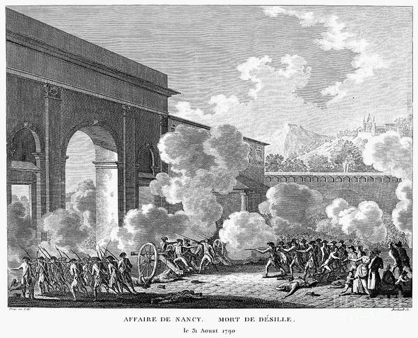 1790 Art Print featuring the photograph French Revolution, 1790 by Granger