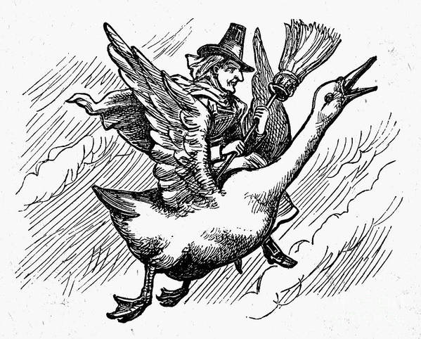 19th Century Art Print featuring the photograph Mother Goose by Granger