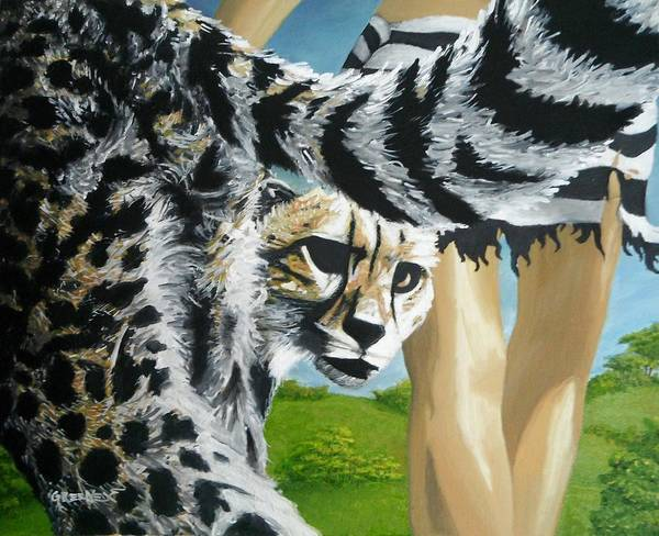 Cheetah Art Print featuring the painting The Travelers by CJ Greene