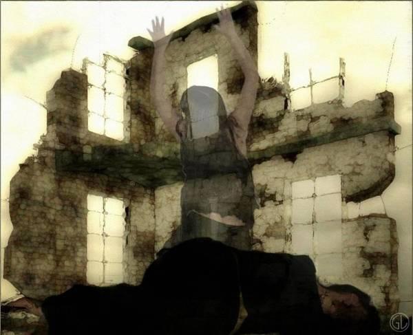 Digital Art Art Print featuring the digital art Abandoned House by Gun Legler