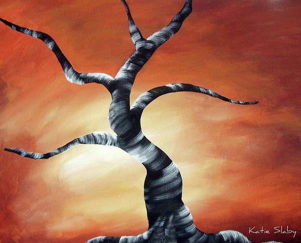 Tree Art Print featuring the painting African Dance by Katie Slaby