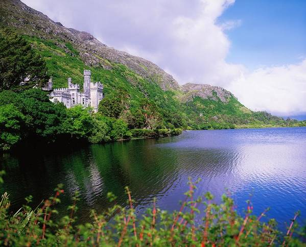 Building Art Print featuring the photograph Co Galway, Ireland, Kylemore Abbey by The Irish Image Collection