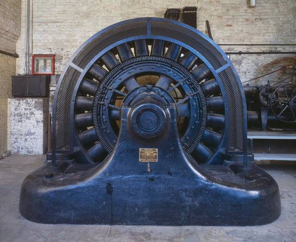 History Art Print featuring the photograph Electric Generator In The Folsom by Everett