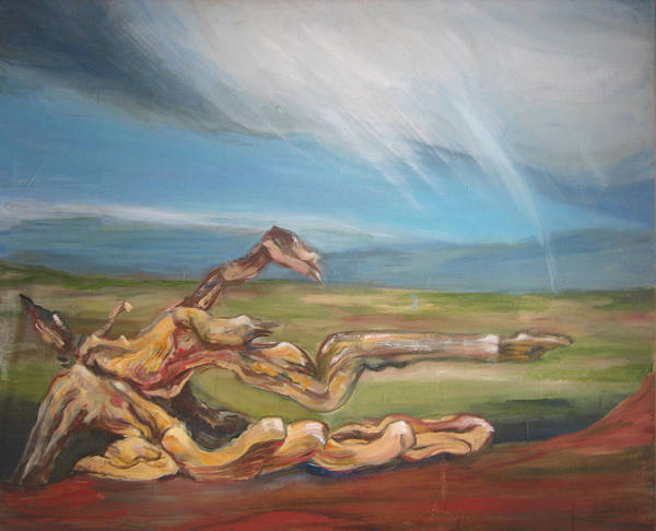 Driftwood Art Print featuring the painting Falling Sky by Sophie Brunet
