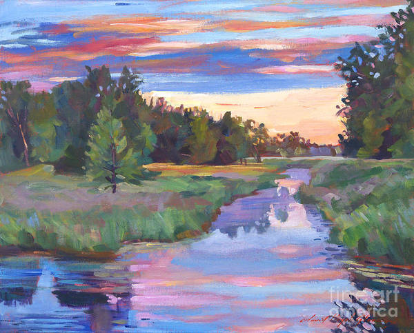 Landscape Art Print featuring the painting Moody River by David Lloyd Glover