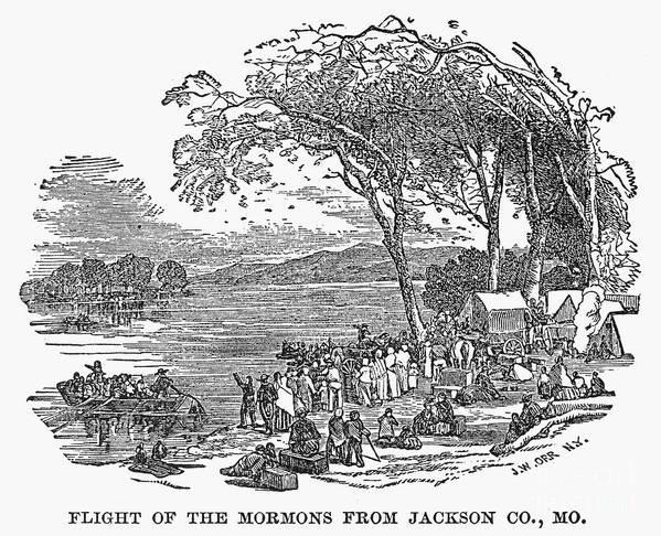 1833 Art Print featuring the photograph Mormon Flight, 1833 by Granger