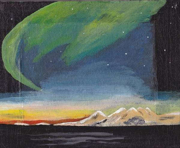 Northern Lights Art Print featuring the painting Northern Lights 2 by Audrey Pollitt