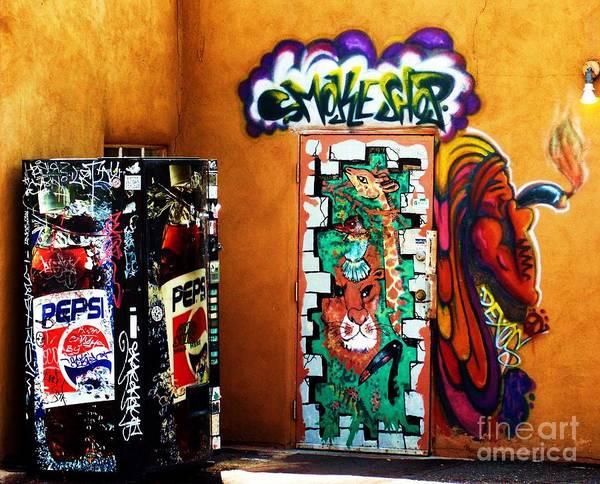 Art Print featuring the photograph Smoke Shop Grafitti Art by Vicki Lomay