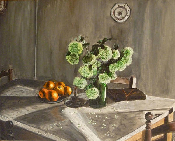 Still Life Print featuring the painting Tuscan Kitchen by Demian Legg
