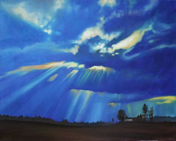 Wisconsin Art Print featuring the painting Wisconsin Field by Kimberly VanDenBerg