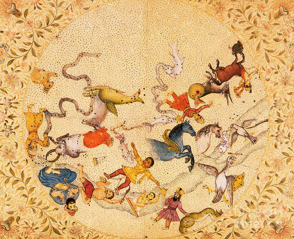 Zodiac Art Print featuring the photograph Zodiac Signs From Indian Manuscript by Science Source