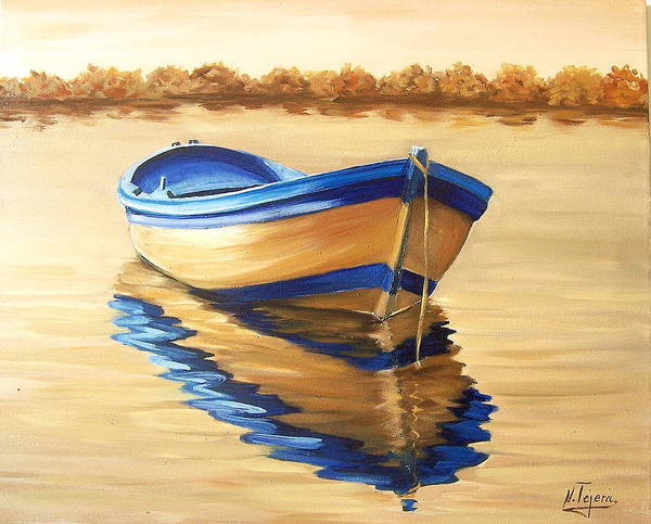 Still Life Art Print featuring the painting Lake by Natalia Tejera