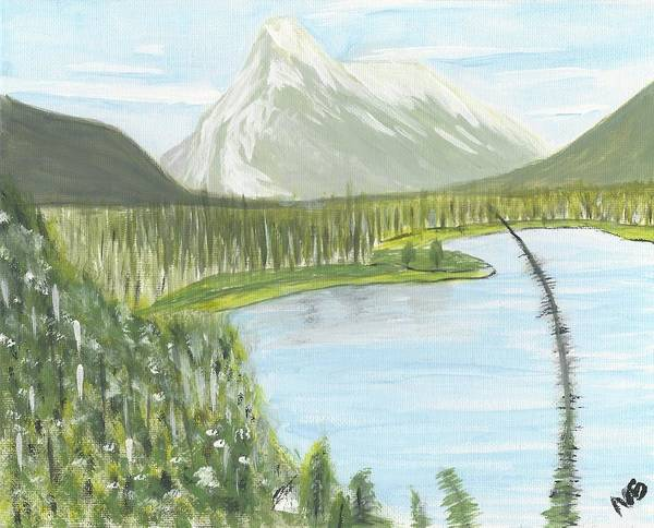 Acrylic Art Print featuring the painting Rundle From Banff by Nicki Bennett