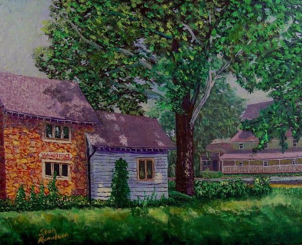 Landscape Art Print featuring the painting Schwabs Fudge by Stan Hamilton