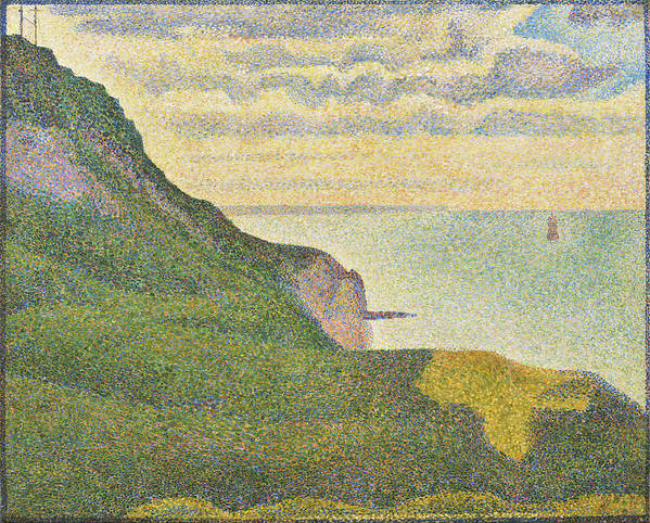 Georges Seurat Art Print featuring the painting Seascape At Port-en-bessin Normandy by Georges Seurat