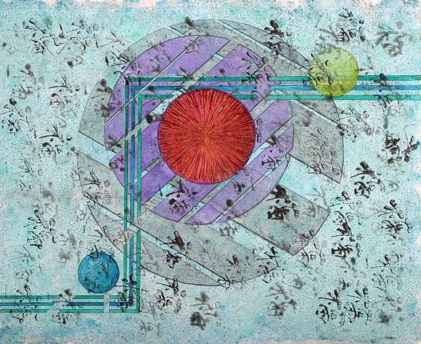 Geometric Abstract Art Print featuring the painting 1204 by Renee Stevens