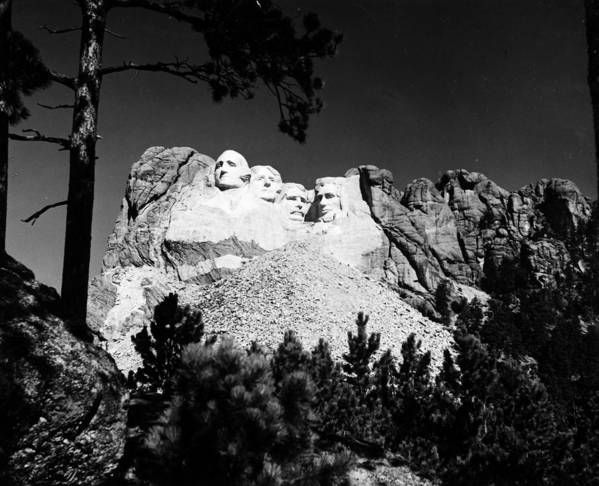 1930s Art Print featuring the photograph Mount Rushmore by Granger