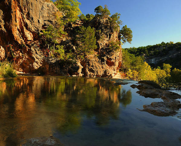 Creek Art Print featuring the photograph Arbuckle Mountains by Iris Greenwell