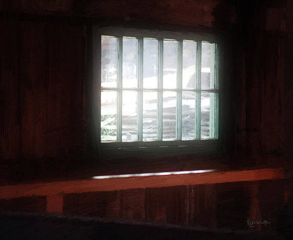 Window Art Print featuring the painting A Dark And Fearsome Place by RC DeWinter