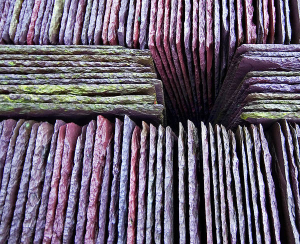 Slate Print featuring the photograph Abstract Slate Pile by Meirion Matthias