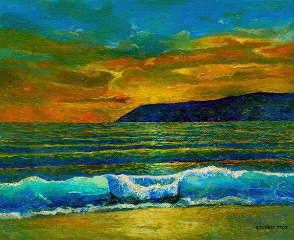 Seascape Art Print featuring the painting Along The African Coast by Michael Durst