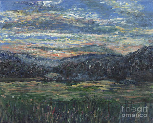 Impressionism Art Print featuring the painting Arkansas Sunrise by Nadine Rippelmeyer