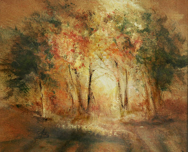 Gift Art Print featuring the painting Autumn Sun by Aneta Berghane