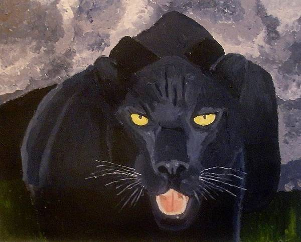 Panther Art Print featuring the painting Big Cat IIi by Mats Eriksson