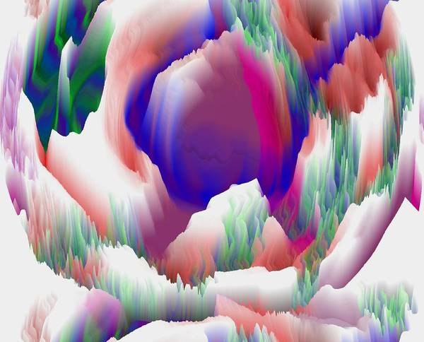 Process.birth.flower.colorf.moving.life Art Print featuring the digital art Birth Of Flower by Dr Loifer Vladimir