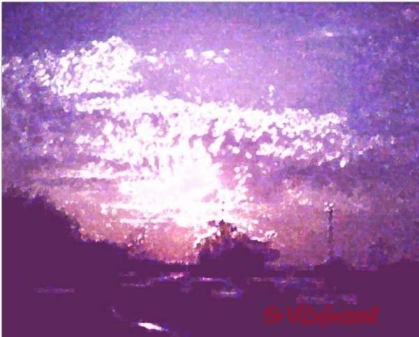 Evening Art Print featuring the digital art Bright Evening by Dr Loifer Vladimir