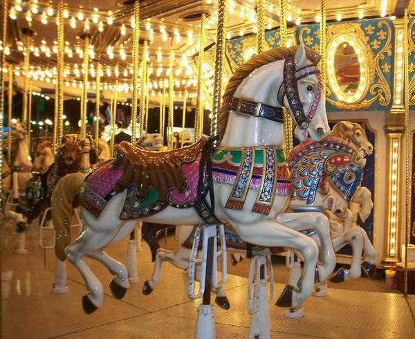 Carosel Horse Art Print featuring the photograph Carosel Horse by Anita Burgermeister