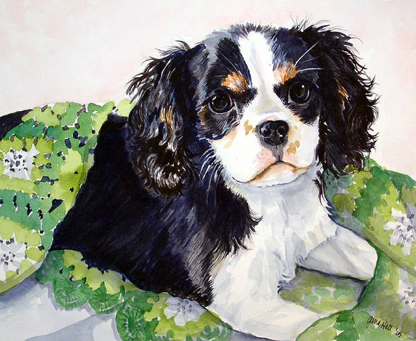 Canine Art Print featuring the painting Casey by Gina Hall