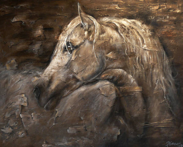 Horse Art Print featuring the painting Cashmere by Paula Collewijn - The Art of Horses