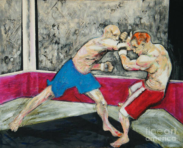 Boxer Art Print featuring the painting Contact by John Keasler