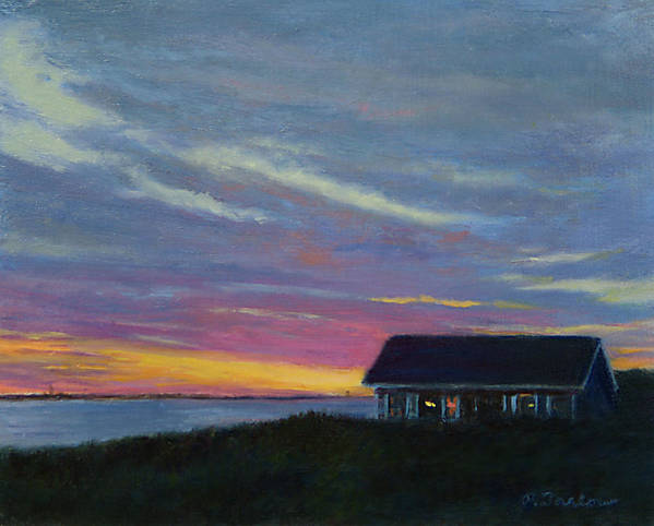 Landscape Art Print featuring the painting Cottage With A View by Phyllis Tarlow