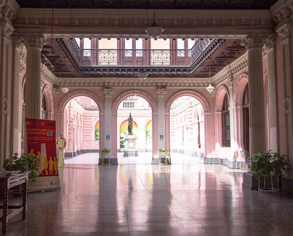 Courtyard Art Print featuring the photograph Courtyard Of The Central Post Office, Lima Peru by Amy Sorvillo
