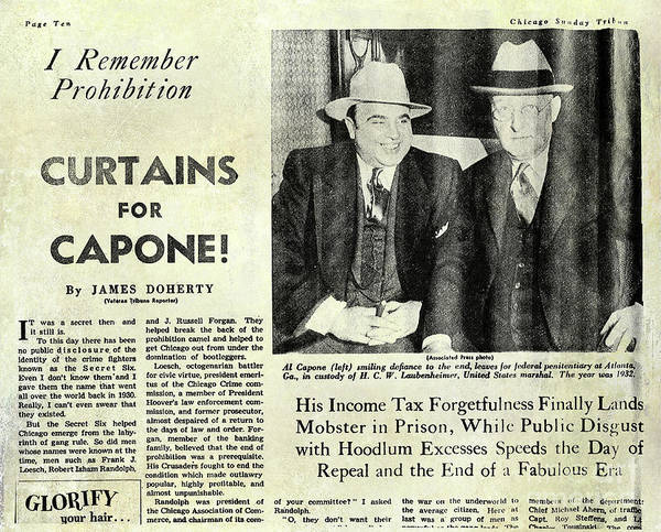 Prohibition Art Print featuring the photograph Curtains For Capone by Jon Neidert