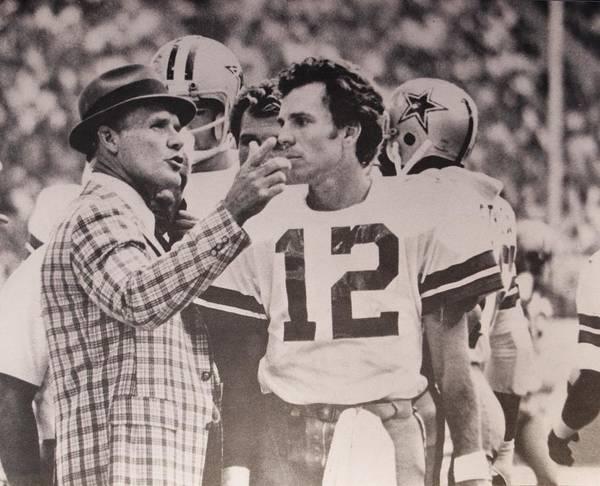 33a31500b Tom Landry Art Print featuring the photograph Dallas Cowboys Head Coach Tom  Landry And  12