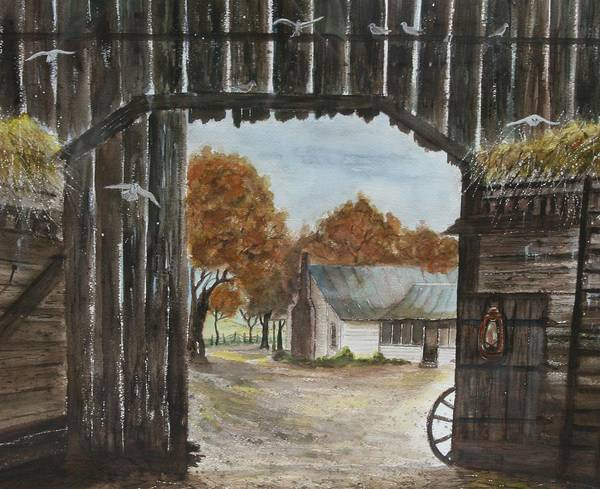 Grandpa And Grandma's Homeplace Art Print featuring the painting Down Home by Ben Kiger