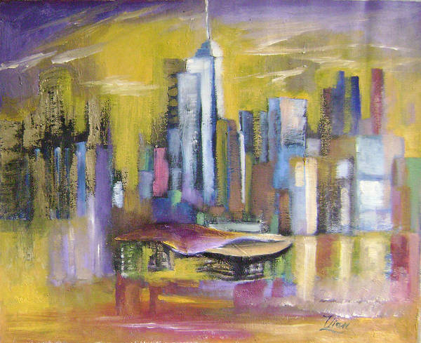Imaginative Art Print featuring the painting Dream City No.5 by Lian Zhen