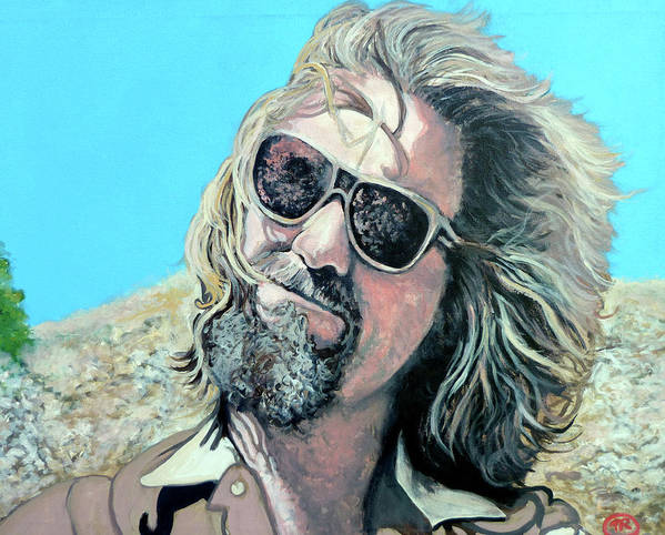 The Dude Art Print featuring the painting Dusted By Donny by Tom Roderick